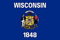 Flagge Wisconsin