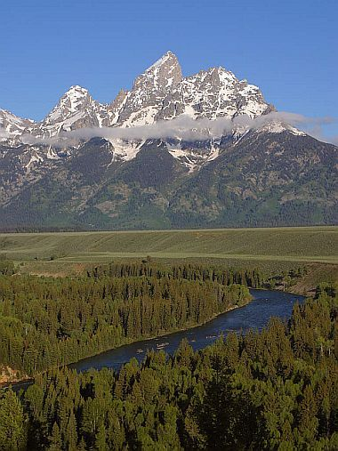 Der Grand Teton und der Snake River im Grand Teton National Park